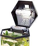infactory Nano Aquarium: Beleuchtetes Panorama-Aquarium Hexagon, Komplett-Set, 19 l...