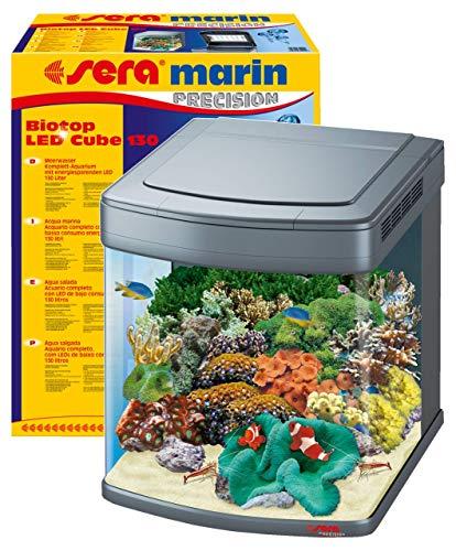 sera marin Biotop LED Cube 130 - 130 l Meerwasser-Komplettaquarium mit LED...