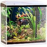Sweetypet Aquarium Komplettset: Nano-Aquarium-Komplett-Set mit LED-Beleuchtung, Pumpe...