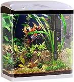 Sweetypet Fischbecken: Nano-Aquarium-Komplett-Set mit LED-Beleuchtung, Pumpe und...