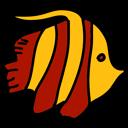 Aquarium-Sets Fisch-Logo 128 Pixel